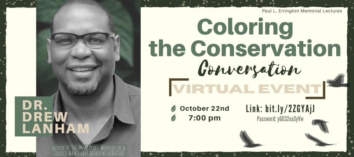 Coloring the Conservation Conversation - D. Drew Lanham - Virtual Event